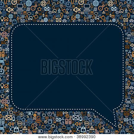 Social Media Speech Bubble. Seamless Pattern