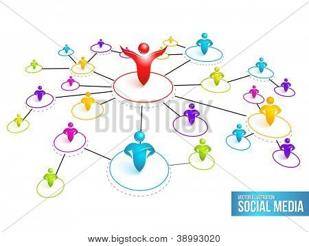 Social Media Network. Vector Illustration.