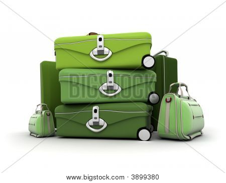 Elegant Green Baggage