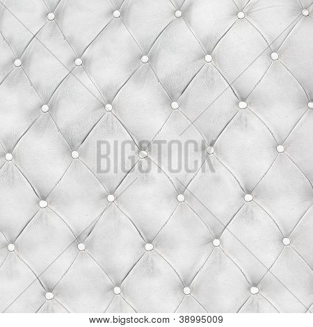 Luxury and modern style background with classic white and gray leather texture of an old retro door with metal buttons