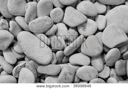Decorative floor texture with gravel stones