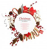 pic of recipe card  - White Christmas plate with ornaments and candies - JPG