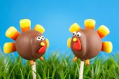 stock photo of cake pop  - Turkey cake pops - JPG