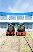 picture of former yugoslavia  - steam locomotives in depot - JPG