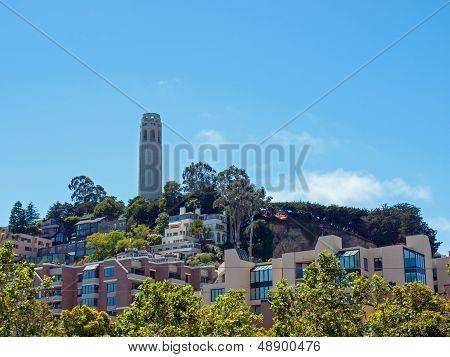 Coit Tower In San Francisco California Usa