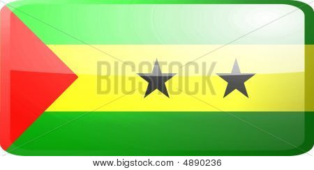 Flag Of Sao Tome And Principe Button