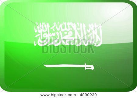 Flag Of Saudi Arabia Button