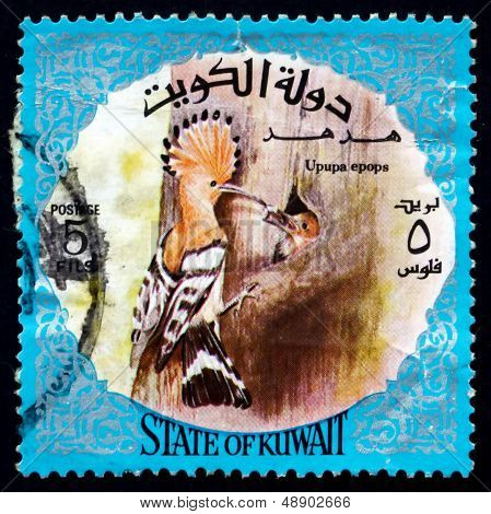 Postage Stamp Kuwait 1975 Eurasian Hoopoe, Bird