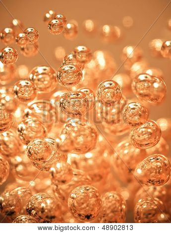 Abstract Orange Bubble