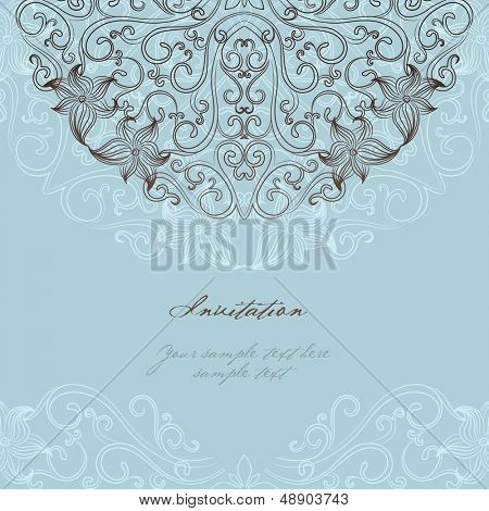 Elegant invitation cards. Vector illustration