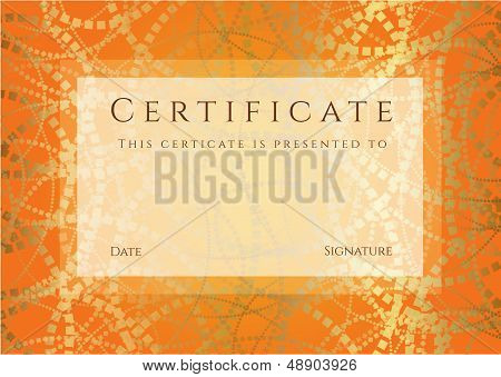 Certificate, Diploma (template). Awards background