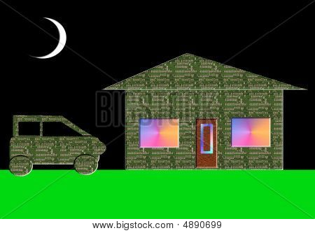 Electronic Car And House