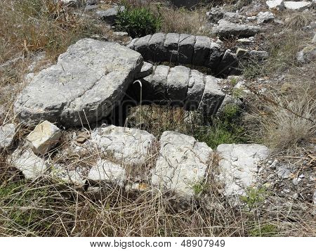 Part of the sewers of ancient Rhodiapolis.