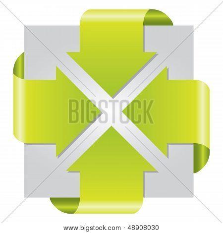 Green Colored Arrow Presentation Brochure