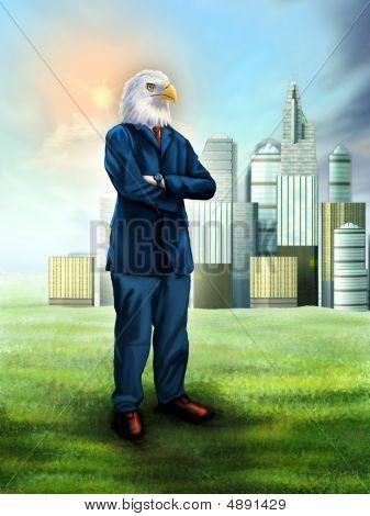 Empresário de águia