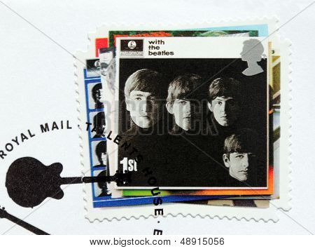 """with The Beatles"" Stamp."
