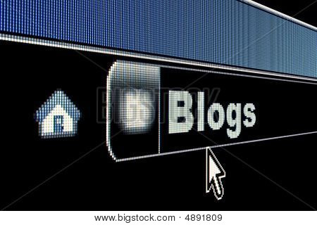 Internet Blogs Concept