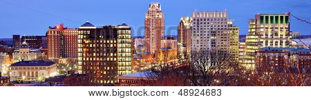 Panorama of downtown Providence, Rhode Island.