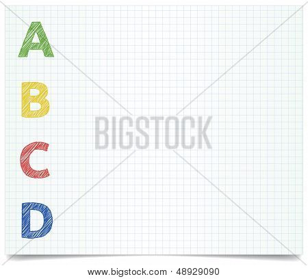 ABCD - pen style