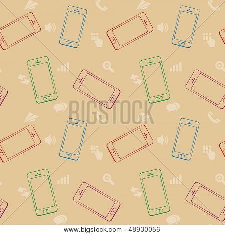 Dispositivos móveis, Smartphone, sem costura de fundo