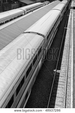 Train Station, Black and White