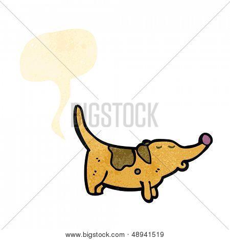 Retro Cartoon farting Hund