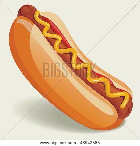 Vector ilustração de cachorro-quente