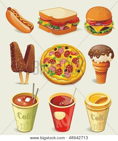 Cartoon-Fast-Food-Symbol