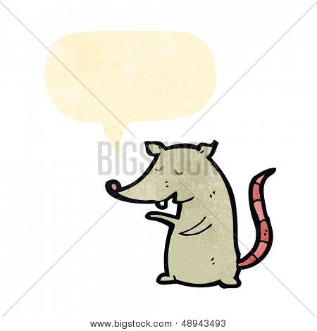 retro cartoon rat squeaking