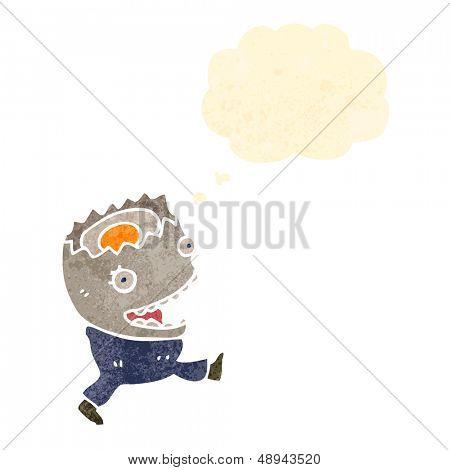 retro cartoon egg character