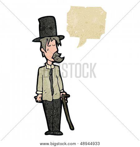 retro cartoon posh tramp