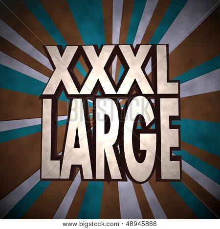 3D Graphic Of A X-large Xl Label  On Retro Background