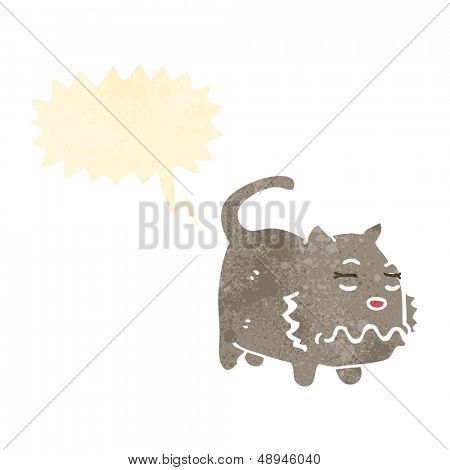 retro cartoon,farting cat