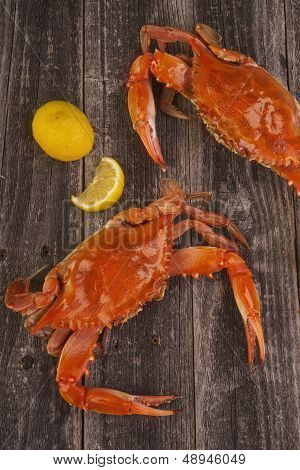 Cooked Crabs.