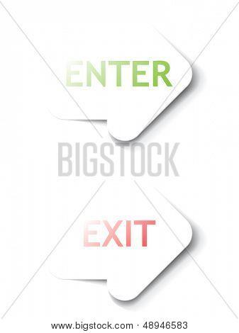 Enter, Exit arrows