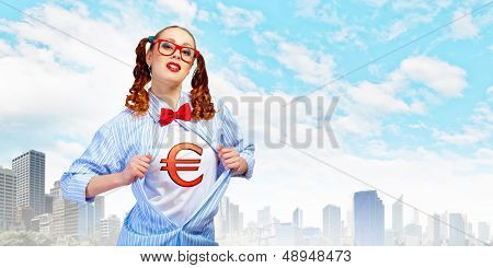 Young  super hero woman