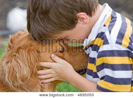 Little Boy und Hund