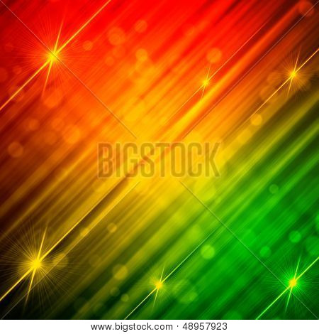 Abstract Motley Background With Shining Lines And Stars