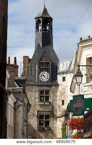 Beautiful medieval village Amboise Loire Valley France