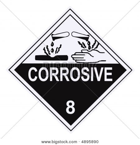 Corrosive Warning Placard