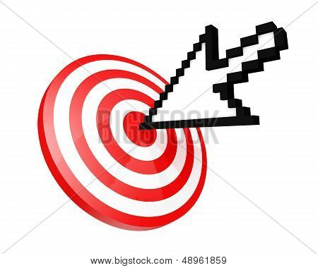 Mouse Cursor Hitting The Target