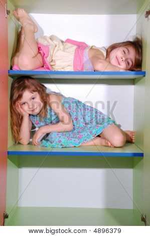 Girls On Shelves