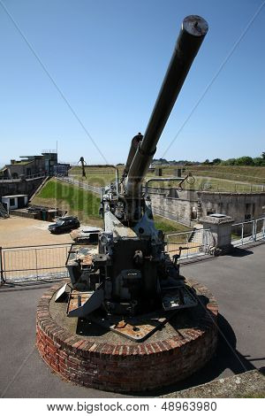 Anti-aircraft Gun At Fort Nothe
