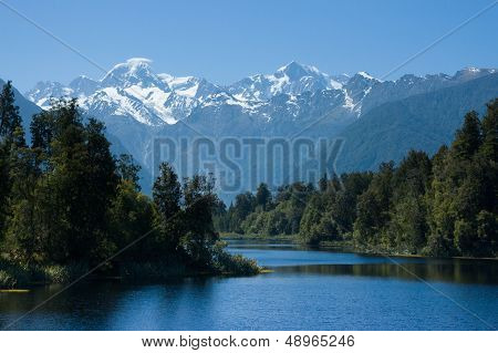Mt Cook From Lake Matheson