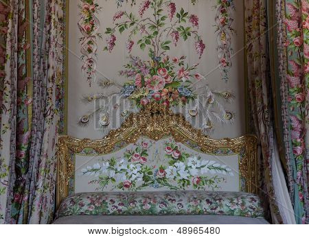Bedroom of the queen, Chateau de Versailles, France
