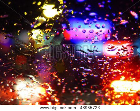 Colorful Raindrops Glass