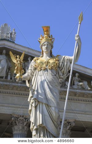 Pallas Athene In Front Of Viennese Parliament