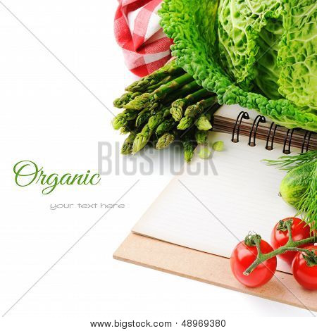 Fresh Organic Vegetables And Cooking Book