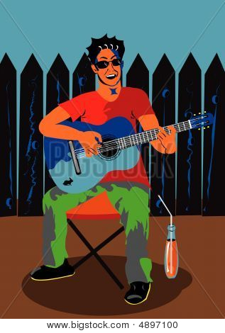 Mann Gitarre