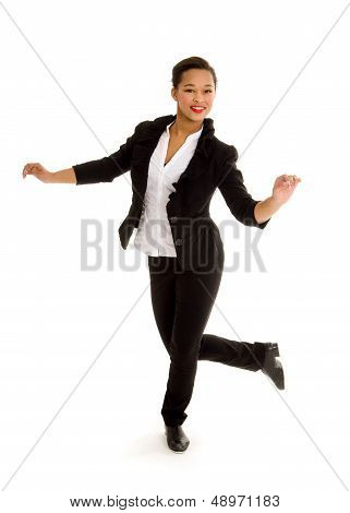 Tap Dancing Girl In Action